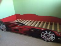 Single racing car bed frame
