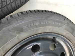 Set of 4 Mounted Winter Tires on Rims
