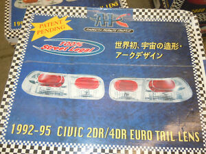 Honda Civic 1992 - 94 2 / 4 Door Euro Tail Lights / Lamps