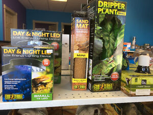 Variety of reptile supplies