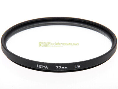 77mm. filtro UV Hoya. Lente ultravioletto per obiettivi 77 mm. U-V filter