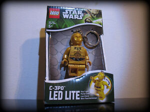 Star Wars Lego C-3PO Minifig Figure Keychain Led Light UP Droid