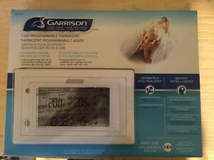 Garrison 7 day programmable thermostat- brand new