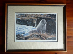 Ron Parker signed and numbered, 616 of 950 Arctic Fox print