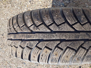 215/60/R16 studded winter tires- LIKE NEW!!!