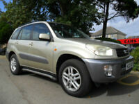 TOYOTA RAV 4 2.0 AUTO GX 2003 COMPLETE WITH M.O.T HPI CLEAR INC WARRANTY