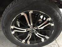 Rtx poison series rims with like new cooper touring tires