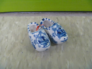 Small Pair Of Delft Blue Shoes