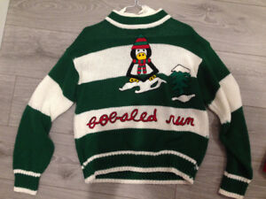 Bobsled Run Christmas Sweater