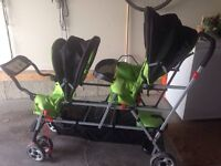 Joovy double stroller plus sit and stand