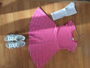 Girl dress, shoes and slippers for sale