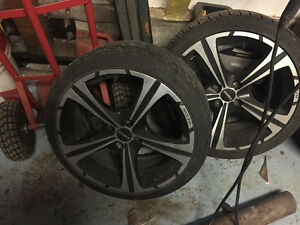 """17"""" 4x100 bolt pattern rims and tires"""