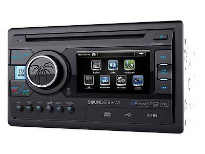 "Soundstream Double Din VR-346B DVD/CD/MP3 Player 3.4"" LCD Bluetooth USB SD New"