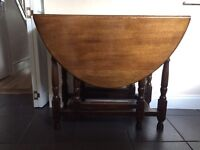 2 beautiful solid oak drop leaf tables for sale