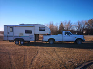 ford f150 truck- 139000 original miles with 19' 5thwheel camper