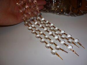 Guirlandes de cristal 12 pouces or (+100 disponibles)NEUVES(022)