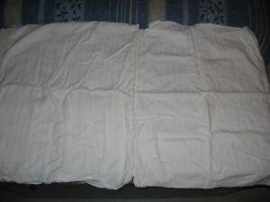 2 couvre-oreillers protecteurs blanc 16''X24'' pour enfants