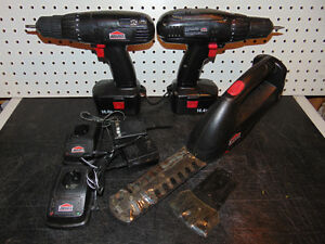 2 Drills - 1 Hedge Trimmer - 14.4v Tools Kitchener / Waterloo Kitchener Area image 1