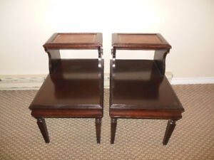 PAIR STEP UP END TABLES