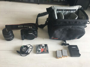 Canon Rebel XSi DSLR Camera w/ Lens, Bag, 2 Batteries, UV Filter