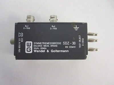 Wandel Goltermann Sdz-30 Balance Ratio Bridge 10khz...32mhz Sdz30