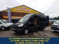 2015 15 FORD TRANSIT T350 TREND L.W.B HITOP 1 OWNER ONLY 79K MLS IN PANTHER BLAC