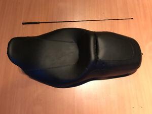 Harley Davidson New Seat, Shield & Antenna
