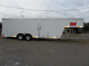 insulated fifth wheel / gooseneck cargo trailer 20'+9'=29'