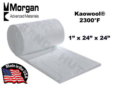 Ceramic Fiber Blanket Kaowool Rt 2300f 8 1x24x24 Morgan Thermal Ceramics
