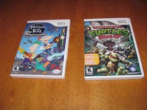 Wii Games - Ninja Turtles - Phineas and Ferb