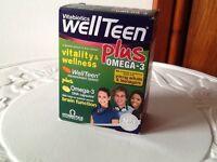 Well Teen vitabiotics With Omega 3 New box