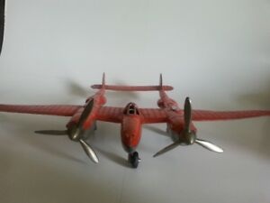1950s P-38 Lightning diecast Plane,Made by Hubley