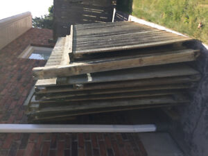 Wood fence panels - $20 each - various sizes