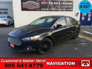 2016 Ford Fusion SE  LEATH NAV HTD-SEATS HTD-S/W PARK-SENS MYFOR