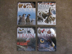 4 Eyewitness Books Arctic & Antarctic, Birds, Trains