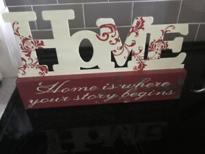 Frame with Quote and Home Decor HOME expression!