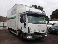 Iveco Eurocargo Box Truck + 7.5 Ton + SLEEPER CAB + TAIL LIFT