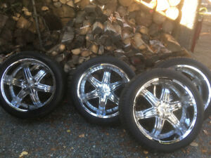 22inch rims and tires 2012 gmc 6 bolt