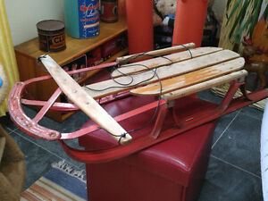 1950s Red Speedliner Snow Sled