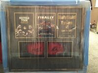Mike Tyson & Evander Holyfield hand signed gloves and original programs with certificate