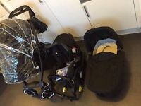 Excellent Condition GRACO EVO XT Travel System including Isofix Base RRP £800+