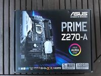 Unused new ASUS prime Z270-A motherboard