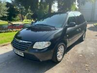 2007 BLACK CHRYSLER VOYAGER 7 SEATER 2.8 CRD LX PLUS AUTOMATIC DIESEL