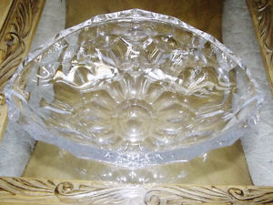 two crystal bowls