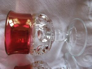VTG Indiana Glass Cranberry Kings Crown glasses West Island Greater Montréal image 2