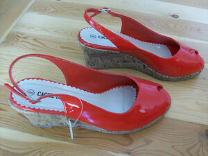 RED SLING BACKS