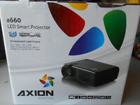 Axion HD TV Projector and 60 screen-New