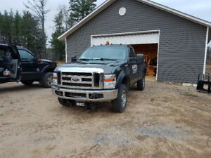 2008 Ford F-250 Pickup Truck with v plow