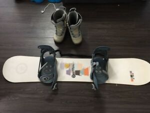 Snowboard + bindings + boots and bag