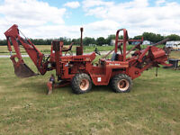 Ditch Witch, trailer, boring machine